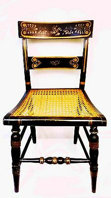 Antique Ferguson Bros. Hand Painted Wood Mahogany Chair 1957