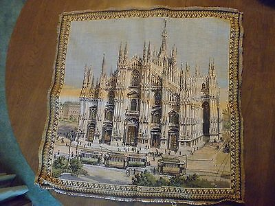 Vintage 24x24 Milano Italy Cathedral Wall Tapestry