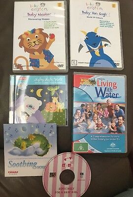 Assorted Baby DVD And CDs Including Baby Einstein
