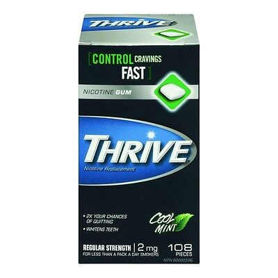 (7 Packs) Thrive Nicotine Gum - 108 Pc 2mg