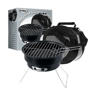 Chef Buddy Portable Grill & Cooler Combo - A Perfect Tailgate Grill