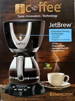 iCoffee RCB100 12 Cup Programmable Coffee Maker w/ Steam Brew & Stir Technology