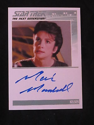 Star Trek TNG Signed Card Marie Marshall as Kelsey *WOW*