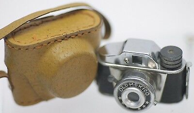 The Rarest HIT - Old Mexico 17.5mm Roll Film Miniature Micro Spy Camera w/ Case