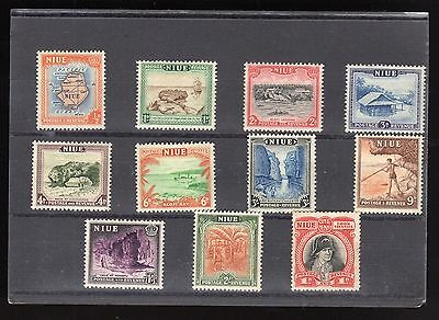 Pre Decimal, Niue Stamps x 11, MH, Some toning on rear, #1393