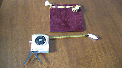 Henselite LAWN BOWLS Boules TAPE MEASURE + CALIPERS + COUNTER in POUCH ~Exc Con