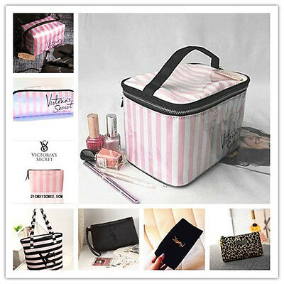 FOR/Victoria's Secret striped cosmetic bag admission package#17 color