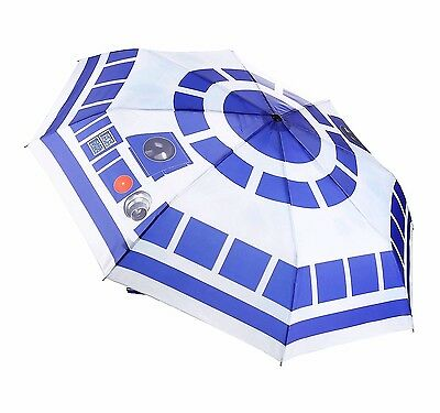 New - STAR WARS R2-D2 Compact UMBRELLA - Officially Licensed