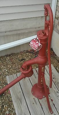 (Red Jacket) Antique Cast Iron Farm Well Pump Davenport,Iowa & Diffuser . NICE!