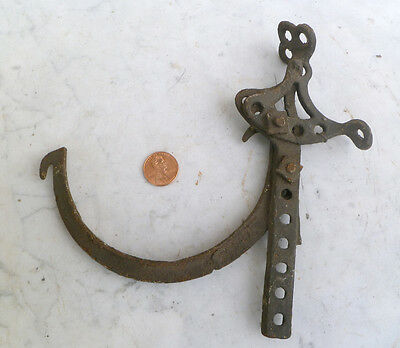 ~ ANTIQUE IRON GUTTER HOOK ~ Adjustable