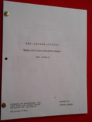 """""""The Addams Family"""" Script from the 1960's TV series"""