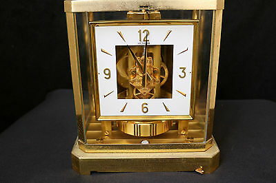 Running Le COULTRE Atmos Square Face 15 Jewel Perpetual Movement Mantle Clock