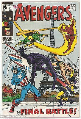 Avengers Vol. 1 (1963-2004) #71 VF CENTS COPY UNSTAMPED 1st Invaders!