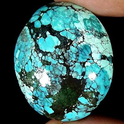 36.00Cts 100% NATURAL DESIGNER TIBET TURQUOISE OVAL CABOCHON UNTREATED GEMSTONE