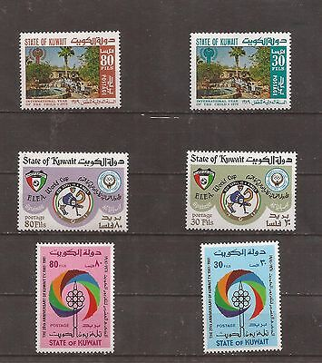 3 Complete Sets _ Kuwait _  from 1979 _ MNH _ CV $11.15