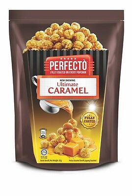 Perfecto Popcorn Fully Coated Ultimate Caramel Perfect Snack for Movie 85g