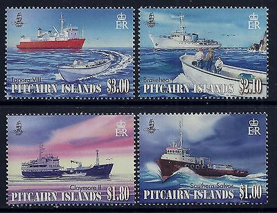 2011 Pitcairn Islands Supply Ships Set Of 4 Fine Mint Mnh/muh
