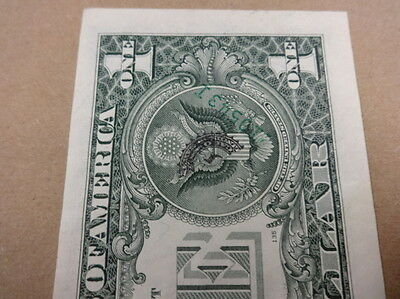 1988 Error $1 Federal Reserve Note Half Seal and Serial Number on Reverse