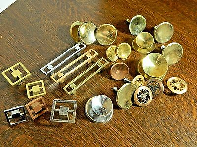 Vintage Drawer Pulls Knobs Handles, Copper Chrome Gold Metal Mid Century Modern