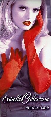 Satin-Handschuhe rot red lang Dessous Ladies Gloves Sexy Cottelli Collection S-L