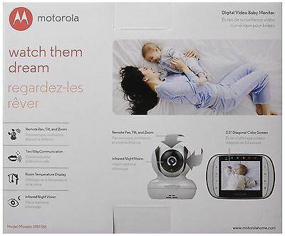 Motorola MBP36S Remote Wireless Video Baby Monitor with 3.5-Inch Color LCD