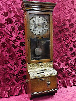 Antique Running 1914 International Time Recording Co Early IBM Punch Clock