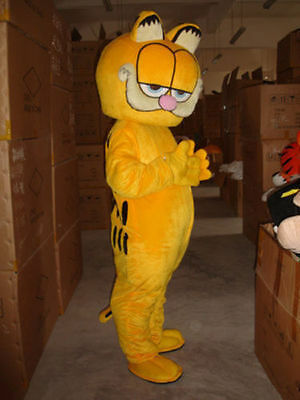 Hot Garfield Mascot Costume EPE Fancy Dress Outfit Adult free shipping NEW