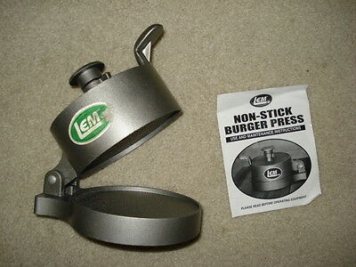 LEM Non Stick Burger Press With Use and Maintenance Instructions