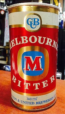 Melbourne Bitter. 740ml.S/S Steel Collector Beer Can.