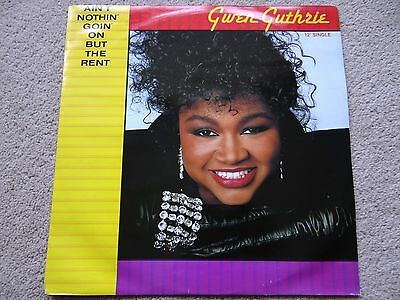 """Gwen Guthrie - Ain't Nothin' Goin' On But The Rent 12"""" Vinyl Single EP R&B 1980s"""