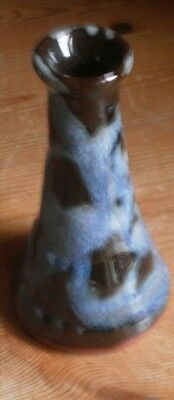 """Studio Pottery Bud Vase Cliff Youghal Ireland - 4 1/2"""" Tall"""