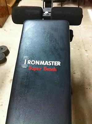 Ironmaster Super Bench - Flat Incline Weight Bench Home Gym Workout Exercise