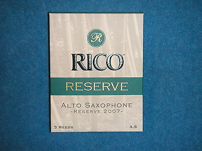 Rico Reserve Classic Alto Saxophone Reeds - Box Of 5 - Strength 3.5 - Rjr0535
