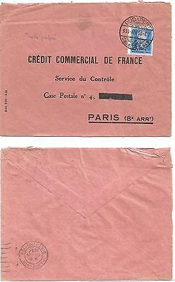 Magyar Perfore Perfin Tam Lettre Cover Budapest 1926 To Ccf France