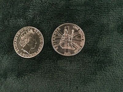 GREAT BRITAIN 2 POUNDS ANNO 2011 - 1 oncia argento