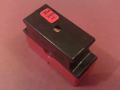 (Each)= Wylex 30 Amp Fuse And Red Base 30A Cartridge Fuse C30 Standard Fuseboard