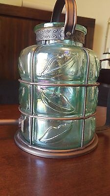 Vintage Victorian Steampunk Glass/Copper Watering Can/Pitcher
