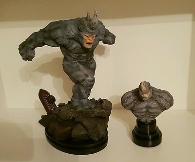 Lot statue et buste RHINO Bowen - Signed, matching set, low number  - #10/1000