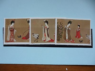China Stamps, 1984, Tang Dynasty Painting, SG3300-3302, Mint never hinged