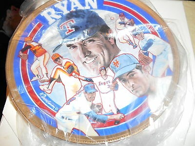 Nolan ryan serial numbered collector's commemorative plate 3,059/10,000