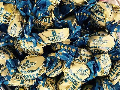 WALKERS ENGLISH CREAM TOFFEE 400g, CLASSIC BRITISH CHEWY RETRO SWEETS, UK IMPORT