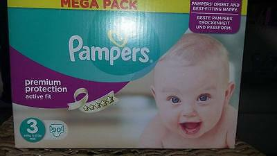 90 Couches Pampers active fit premiuim protection taille 3 ( 4 à 9 kg)
