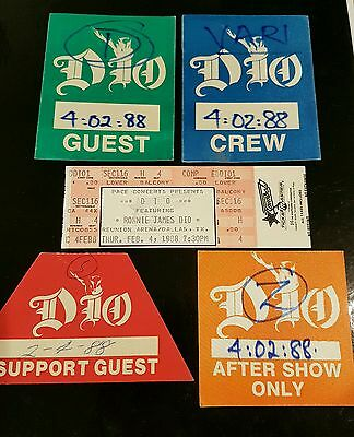 Dio Ticket Passes and Picks.