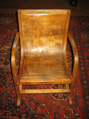 Small Antique Bentwood Childrens Rocking Chair (Dutch Design?)