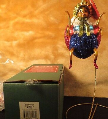 THE LADY'S A BUG Slavic Treasures New Retired Glass Christmas Ornament Way Out