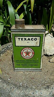 very rare aussie texaco quart oil tin in great condition hard to find free post