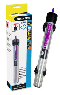 Aqua One Submersible Aquarium Fish Tank Water Heater Glass 55W 3 YEAR WARRANTY