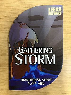 Gathering Storm Stout - Leeds Brewery - Real Ale Beer Pump Clip