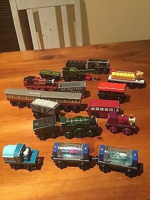 wooden Thomas the Tank Engine bulk lot of trains diesel emily express coach lady