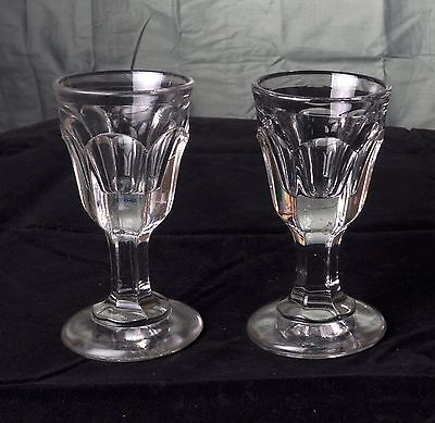 Pair of Vintage Clear Glass Drams; Similar to Sowerby, Deceptive, Whisky